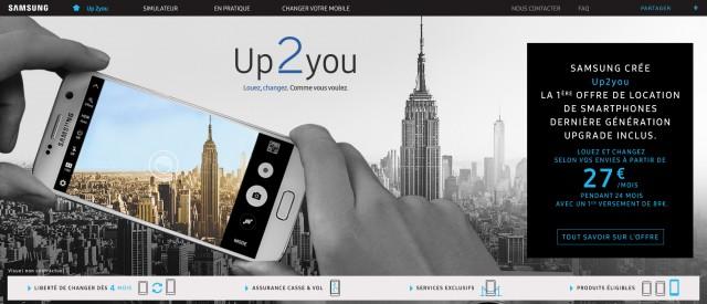 samsung propose d sormais la location de smartphones gr ce au service up2you 39 39 barlamane. Black Bedroom Furniture Sets. Home Design Ideas