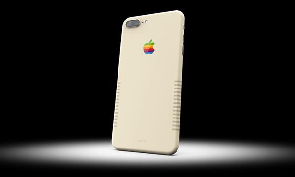 apple un iphone 7 plus r tro qui rappelle les boitiers d 39 ordinateurs de la marque la pomme. Black Bedroom Furniture Sets. Home Design Ideas